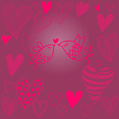 Lovely valentine's background — Vector de stock