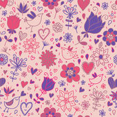 Spring romantic. Seamless pattern — Stock Vector
