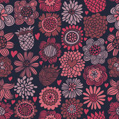 Romantic floral seamless pattern — Vecteur