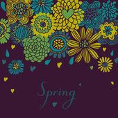关于紫花卉背景 — 图库矢量图片