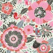 Colorful floral seamless pattern — ストックベクタ