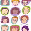 Cool vector set of human cartoon individuals. - Stock Vector