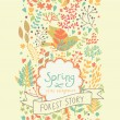 Bright vintage seamless pattern. Spring floral card. Ideal for wedding design and invitation. Seamless pattern can be used for wallpaper, pattern fills, web page backgrounds, surface textures. — Stock Vector