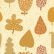 Seamless pattern with autumn leafs, abstract leaf texture, endless background.Seamless pattern can be used for wallpaper, pattern fills, web page background, surface textures. - Stock Vector