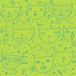 Funny childrens seamless pattern in vector — Stock Vector