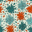 Abstract floral background. Seamless pattern — Stok Vektör
