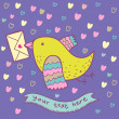 Romantic mail - cute cartoon illustration — Imagens vectoriais em stock
