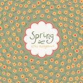 春の背景。テキスト ボックスと花のあるカード — ストックベクタ