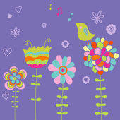 Spring vector illustration — Vector de stock