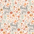 Bright seamless pattern with Thank You — Stock Vector