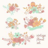 Vintage flowers in vector. — Stock Vector