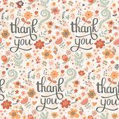 あなたに感謝と明るいのシームレスなパターン — ストックベクタ