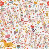 Suave romántico de patrones sin fisuras — Vector de stock