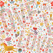 Gentle romantic seamless pattern — Stock Vector