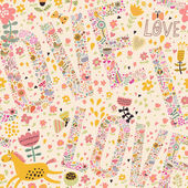 Gentle romantic seamless pattern — Vecteur