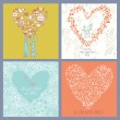 Four romantic backgrounds made of flowers — Stock Vector #44230067