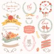 Wedding gentle collection with labels — Stock Vector #44232479