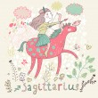 Cute zodiac sign - Sagittarius. — Wektor stockowy  #44235289
