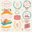 Wedding gentle collection with labels — Stock Vector #44237493