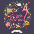 Do you love me? — Stock Vector