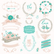 Wedding gentle collection with labels — Stock Vector #44238253