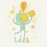 Concept Idea creature in vector. — Stock Vector #44239083