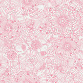 Retro floral seamless pattern in pink colors. — Stock Vector