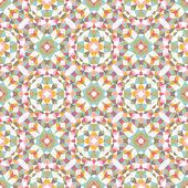 Stylish geometric mandala style seamless pattern — Stock Vector