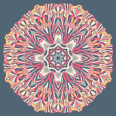 Abstract mandala design element in pink colors — Stock Vector