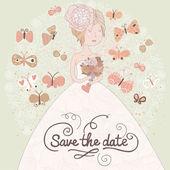 Gentle romantic wedding invitation card — Stock Vector