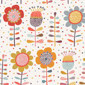 Cartoon flowers. — Stock Vector