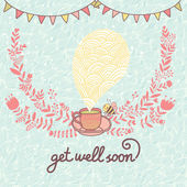 Get well soon! — Stock Vector