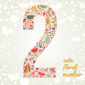 The number Two. — Stock Vector