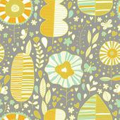 夏花のベクトルの壁紙 — ストックベクタ