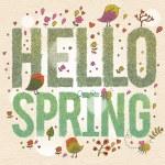 Hello Spring. — Stock Vector #44297453