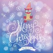 Fantasy Merry Christmas card in vector. — Stock Vector #44298287