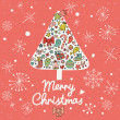 Merry Christmas card in vector. — Vector de stock