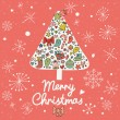 Merry Christmas card in vector. — ストックベクタ
