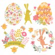 Easter concept set in vector. — Stock Vector