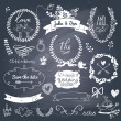 Wedding romantic collection with labels — Stockvektor  #44295597