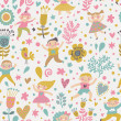 Funny childish seamless pattern in bright popular colors. — Stock Vector