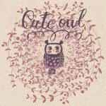 Cute owl. — Stock Vector #44297893