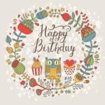 Bright Happy Birthday card — Stock Vector #44298045