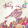 Spring card in vintage colors. — Stockvector  #44299561