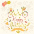 Happy birthday card in bright colors — Stock Vector