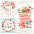 Vintage spring set. — Stock Vector #44299793