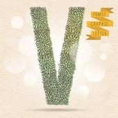 The letter V. — Stock Vector