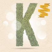 The letter K. — Stock Vector