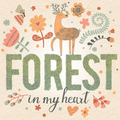 Forest in my heart. — Stock Vector