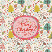 Stylish Merry Christmas card in vector. — Stockvektor